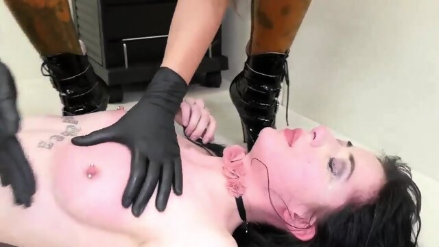 brunette bdsm Hardcore threesome blonde bondage This is our most