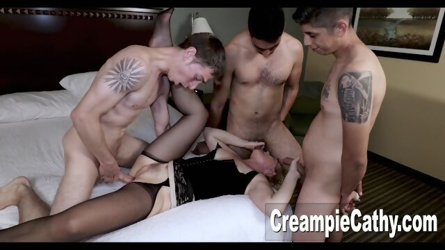 amazing creampiecathy Cougar Fucks Young Guys