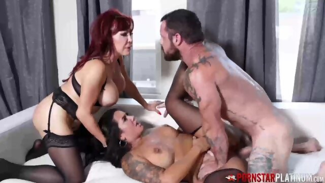 argentinian pornstarplatinum PORNSTARPLATINUM Redhead Sexy Vanessa Fucked In Threesome