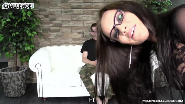 melonechallenge czech Huge glasses wearing young newcomer try to impress Wendy but fail