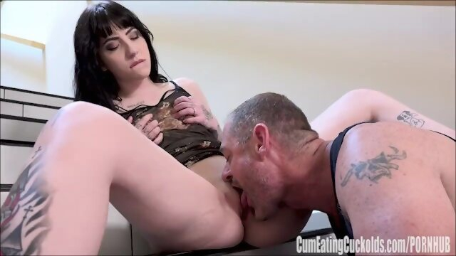 small cumeatingcuckolds Charlotte Sartre Getting Fucked Hard