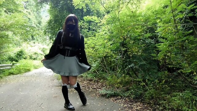 public kink 【Accident】Honoka suddenly encounters a hunter during an outdoor exposure.