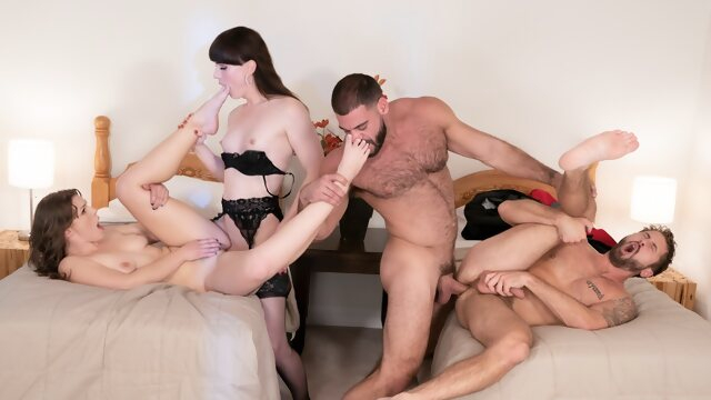 bisexual male Natalie Mars & Ella Nova & Ricky Larkin & Wesley Woods in Free For All - WhyNotBi