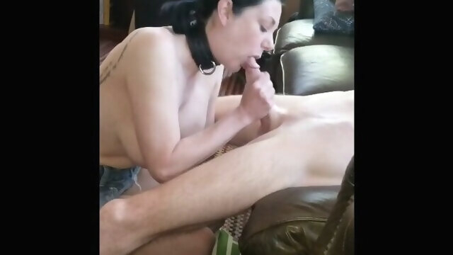 cuckold amateur Submissive slut hotwife fucks new friend while husband films