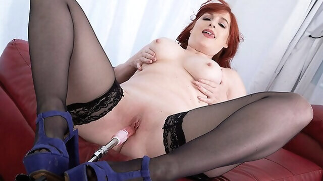 big tits big ass Amber and her new fuck machine - Amber Dawn - 40SomethingMag