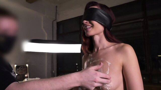 fetish european Substitution. Blindfolded experiment with Jeny Smith