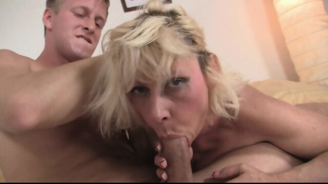 blowjob blonde 60 years old blonde woman rides his big cock