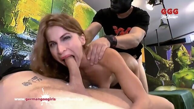 cum germangoogirls Thirsty for Cum MILF enjoys a hardcore gangbang - German Goo Girls