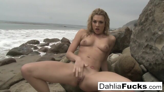 dahliasky brunette Solo toy playtime With Dahlia Sky