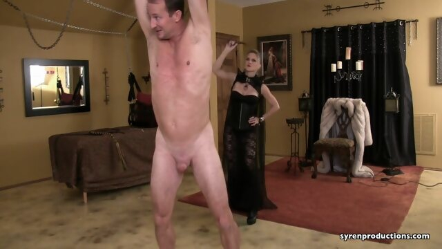 big cock bdsm Countess gets a full body whipping