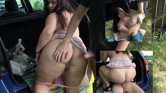 blowjob amateur German amateur tests new car with hard fuck
