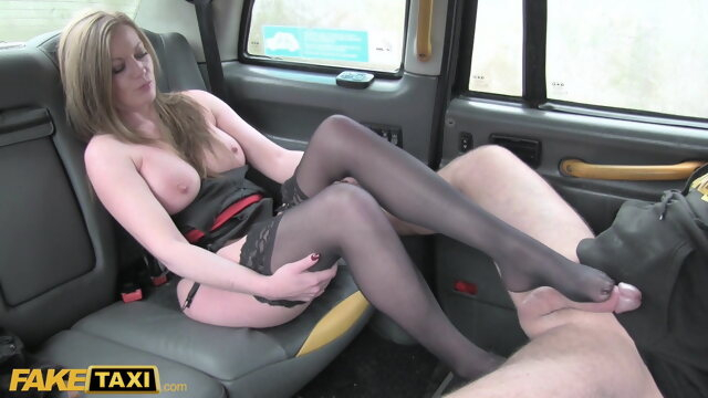blowjob babe Fake Taxi, English MILF with big tits cheats on her husband
