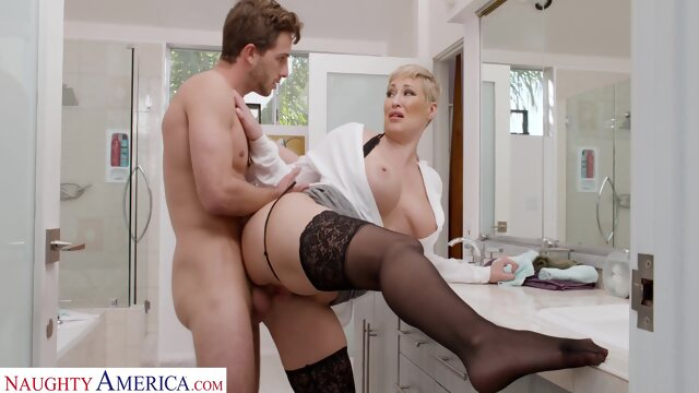 big tits big ass Ryan Keely takes cock from her son's friend