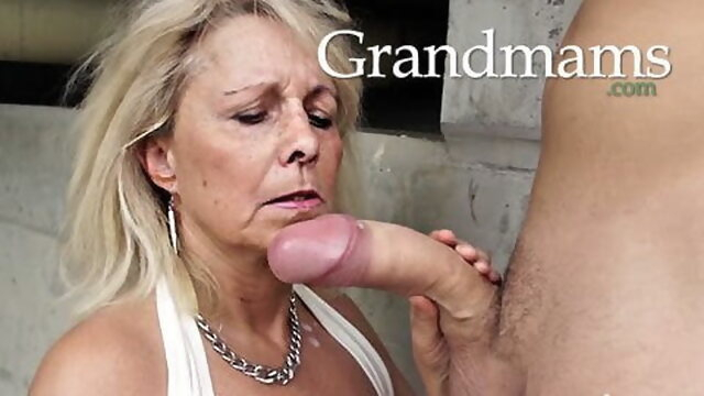 mature blowjob Grandmas just love young cocks