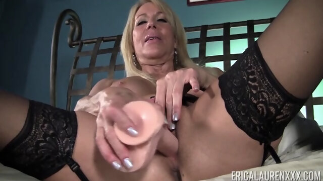 masturbation blonde Erica Lauren in Sticking with Large Dildo - EricaLaurenXXX