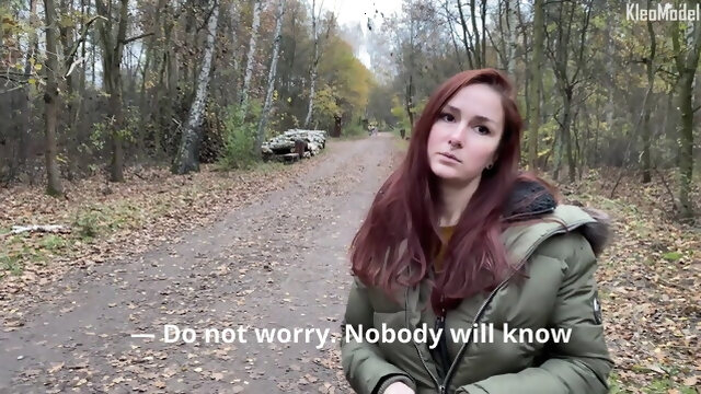public nudity blowjob Public pickup and cum inside the girl outdoors. KleoModel