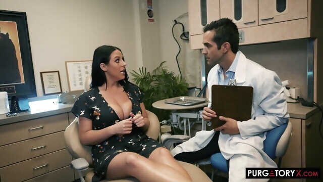 milf stockings angela white visita al dentista
