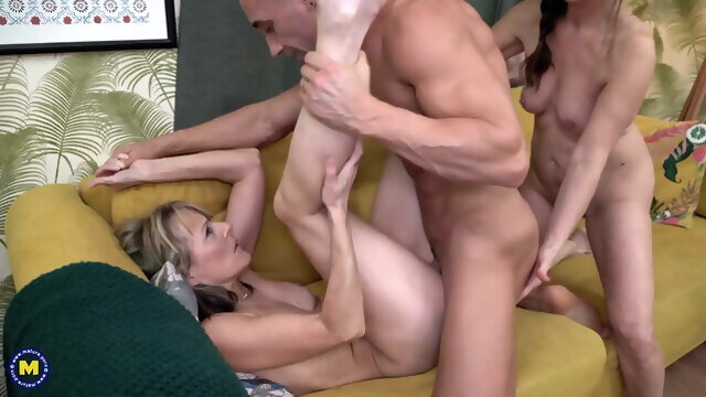 anal amateur Grannies have taboo anal sex threesome