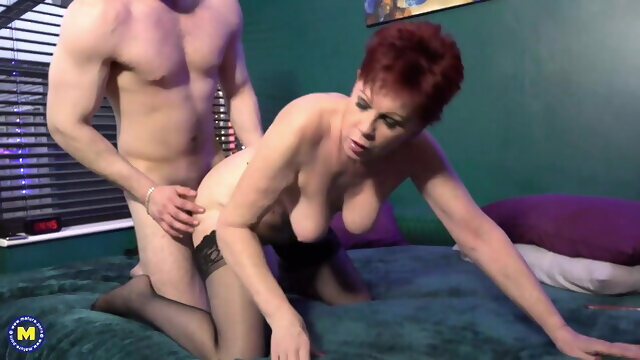 blowjob amateur 64yo granny spoiling young boy