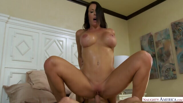 brunette big tits Busty Horny Reagan Foxx Is A Good-natured, Good-fucking Milf
